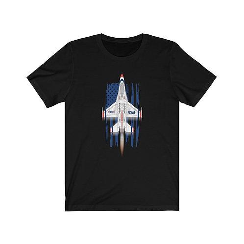 UNOFFICIAL USAF THUNDERBIRDS F-16C AFTERBURNER USA Lightweight T-shirt