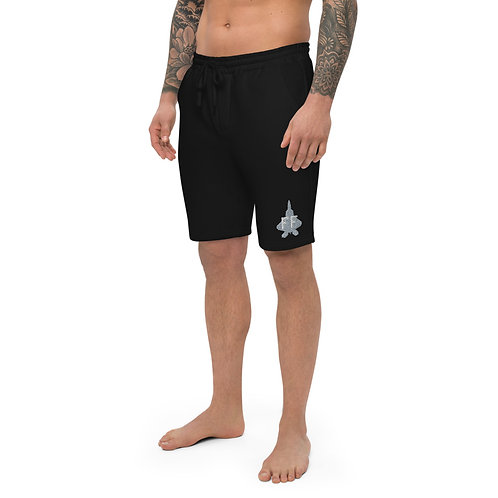 F-22A FF EMBROIDERED Men's Fleece Shorts