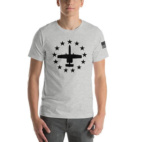 A-10 FREEDOM STARS BLACK PRINT Lightweight T-shirt