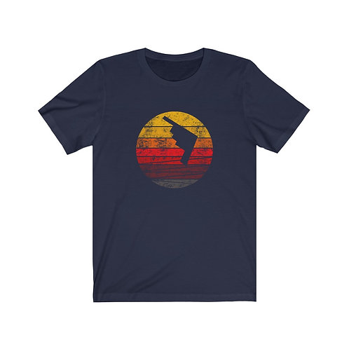 B-2 DISTRESSED RETRO SUNSET Unisex T-Shirt
