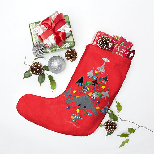 US MILITARY COMBAT AIRCRAFT CHRISTMAS TREE Christmas Stockings