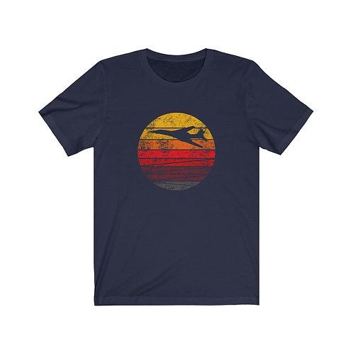 B-1 DISTRESSED RETRO SUNSET Unisex T-Shirt