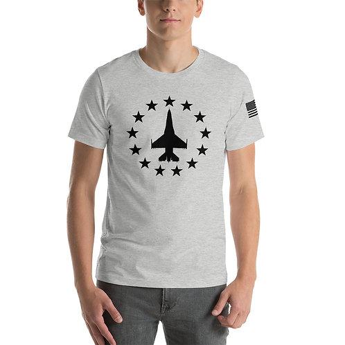F-16 FREEDOM STARS BLACK PRINT Lightweight T-shirt