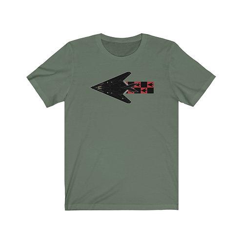 F-117A NIGHTHAWK B/R CHECKERBOARD Unisex Short Sleeve T-Shirt