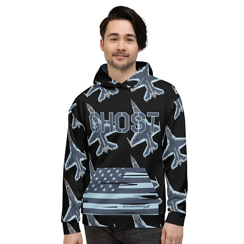 UNOFFICIAL 64 AGRS F-16 GHOST USA Unisex Hoodie