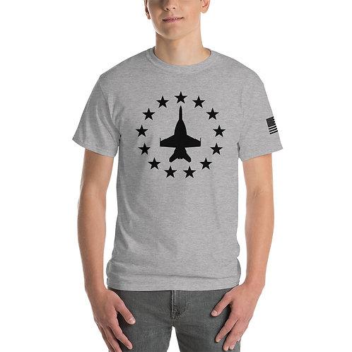 F/A-18 SUPER HORNET FREEDOM STARS BLACK PRINT Heavyweight T-shirt