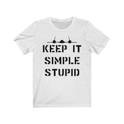 SR-71 KEEP IT SIMPLE STUPID Unisex Short Sleeve T-shirt