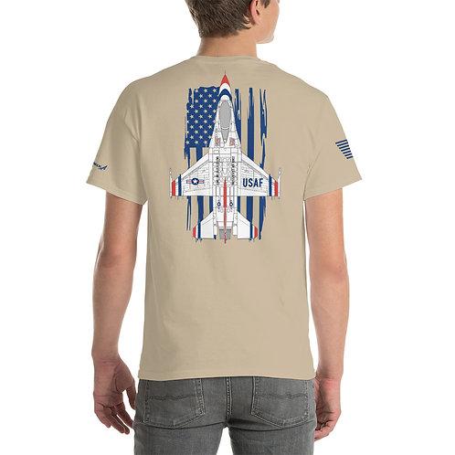 UNOFFICIAL USAF THUNDERBIRDS F-16C FIGHTING FALCON USA PREM Heavyweight T-shirt
