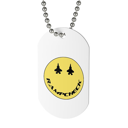 F-35 RAMPCHECK SMILE Dog Tag