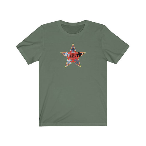 UNOFFICIAL 64TH AGGRESSORS F-16 RED STAR Unisex Short Sleeve T-Shirt