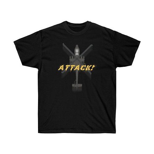 UNOFFICIAL US ARMY AH-64D APACHE ATTACK! Heavyweight T-shirt