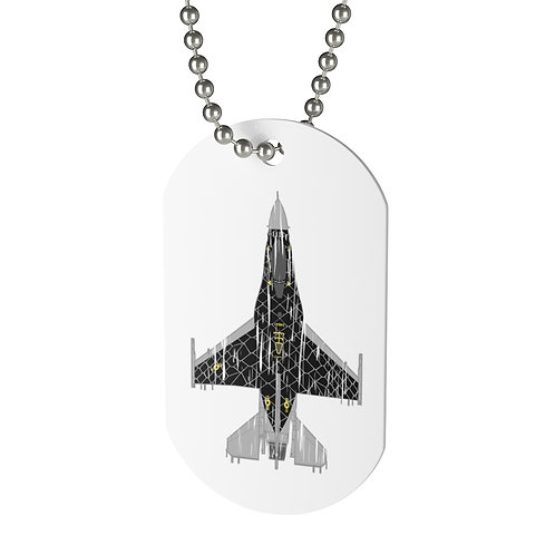 SHREDDED UNOFFICIAL F-16C VIPER DEMO TEAM VENOM Dog Tag
