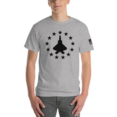 F-22 FREEDOM STARS BLACK PRINT Heavyweight T-shirt