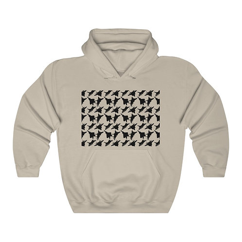 USAF F-15 F-16 F-22 F-35 FIGHTERS PATTERN Unisex Heavy Blend Hoodie