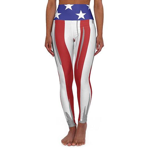 USA PATRIOTIC High Waisted Yoga Leggings
