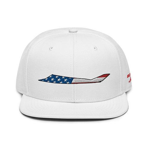 F-117 NIGHTHAWK USA SIDE PROFILE Snapback Hat