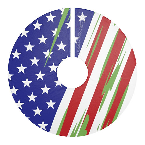 USA Christmas Tree Skirt