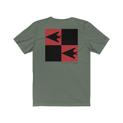F-117A NIGHTHAWK TR TAIL CHECKERBOARD Unisex Short Sleeve T-Shirt