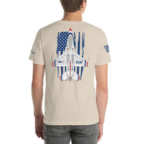 UNOFFICIAL USAF THUNDERBIRDS F-16C FIGHTING FALCON USA PREM Lightweight T-shirt