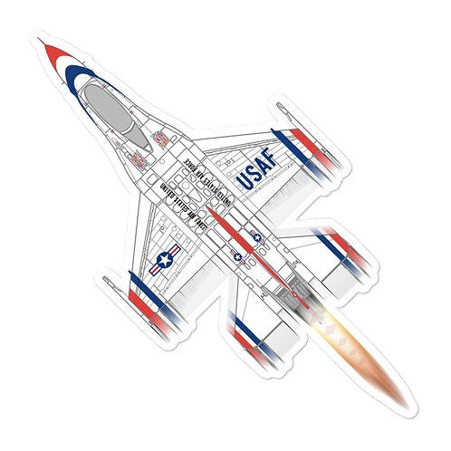 UNOFFICIAL USAF THUNDERBIRDS F-16C FULL SEND STICKER