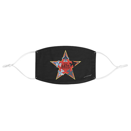 UNOFFICIAL USAF 64TH AGGRESSORS F-16 RED STAR Fabric Face Mask