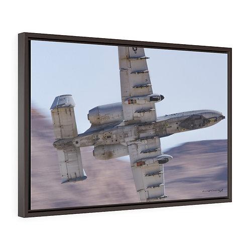 A-10C THUNDERBOLT II Framed Premium Gallery Wrap Canvas