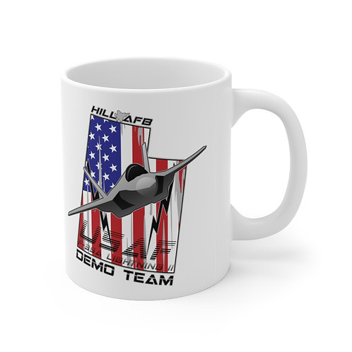 UNOFFICIAL USAF F-35A DEMO TEAM HILL AFB UTAH USA Ceramic Mug 11oz