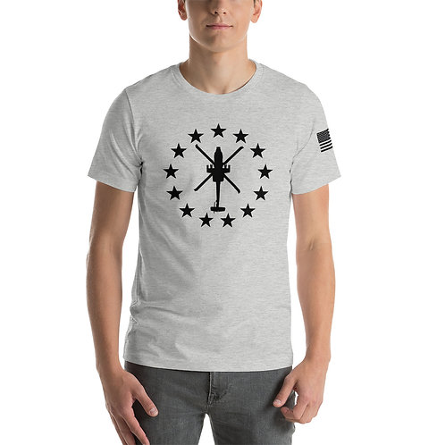 AH-64 FREEDOM STARS BLACK PRINT Lightweight T-shirt