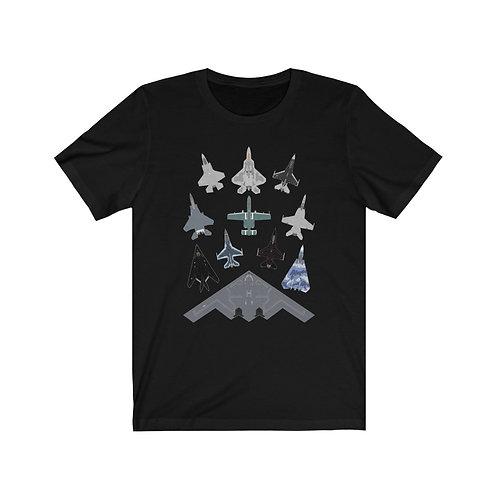 US MILITARY AIRCRAFT MASS FORMATION  Unisex Short Sleeve T-Shirt