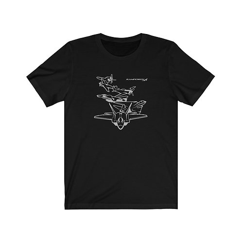 US MILITARY AIRPOWER LEGACY WITH FLAG Unisex Short Sleeve T-Shirt