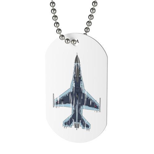 SHREDDED F-16C GHOST AGGRESSOR Dog Tag