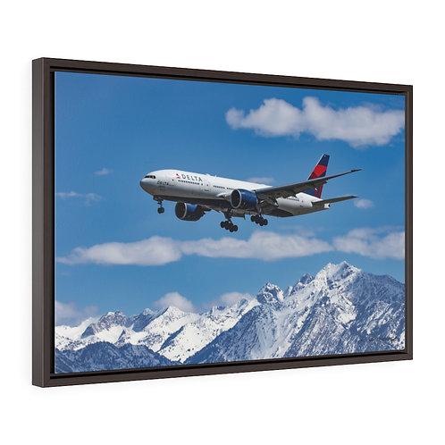 DELTA 777 SALT LAKE CITY, UTAH Framed Premium Gallery Wrap Canvas