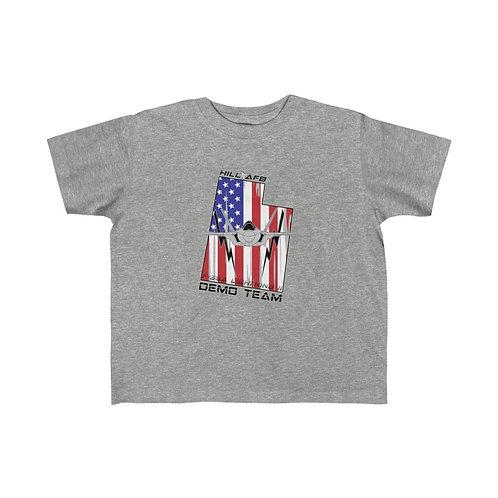 UNOFFICIAL F-35A DEMO TEAM HILL AFB UTAH LOGO Kid's Short Sleeve T-Shirt