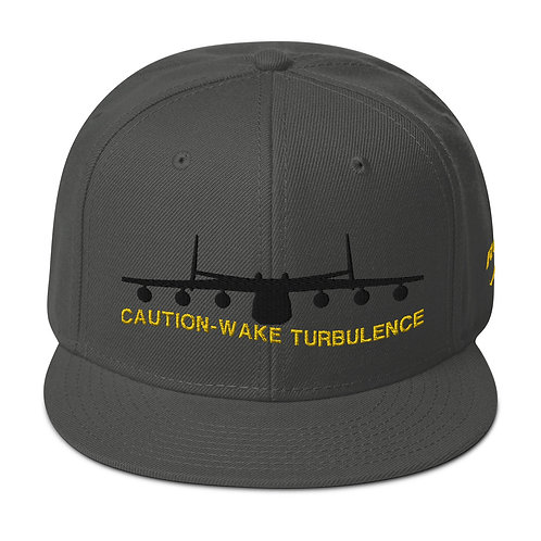 AN-225 CAUTION WAKE TURBULENCE Snapback Hat