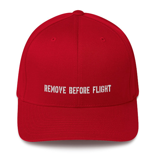 REMOVE BEFORE FLIGHT Flexfit Cap