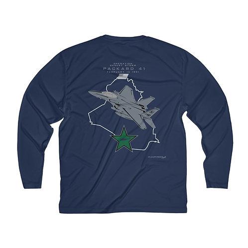 F-15E STRIKE EAGLE SJ 89-0487 HIND KILL F/B PRINT Men's Long Sleeve Sport Tee