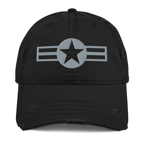 US MILITARY ROUNDEL Distressed Hat