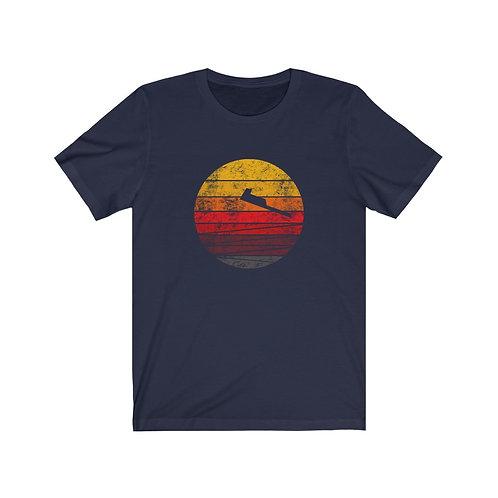 B-21 DISTRESSED RETRO SUNSET Unisex T-Shirt