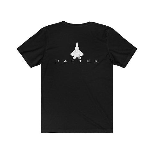 F-22 RAPTOR BACK PRINT Unisex Short Sleeve T-Shirt