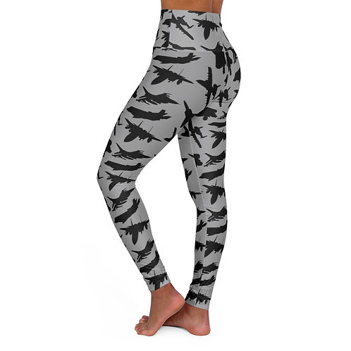 USAF FIGHTER & ATTACK PATTERN High Waisted Yoga Leggings