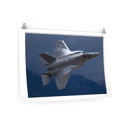 F-35A LIGHTNING II ORIGINAL RAMPCHECK PHOTO Premium Matte Poster