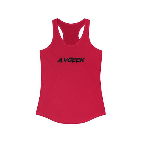 AVGEEK DISTRESSED PRINT Women's Ideal Racerback Tank