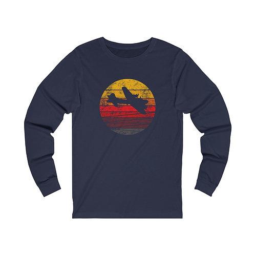 B-17 DISTRESSED RETRO SUNSET Unisex Long Sleeve T-Shirt