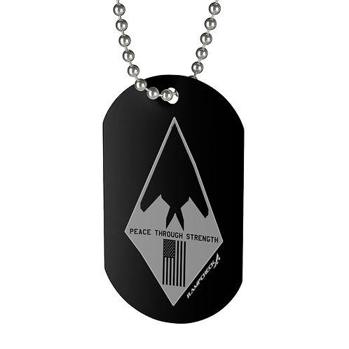 F-117 NIGHTHAWK PEACE THROUGH STRENGTH USA Dog Tag