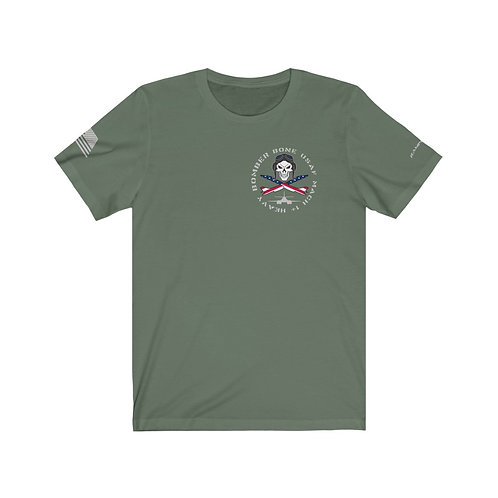 SKULL AND CROSS BONES BONE USAF MACH 1+ HEAVY BOMBER USA Unisex T-Shirt