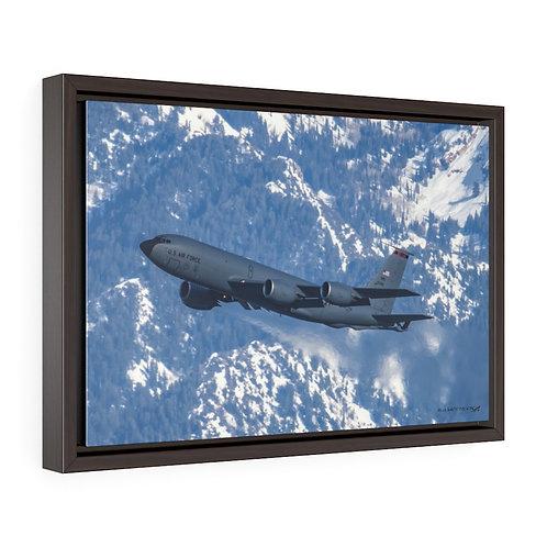 KC-135R STRATOTANKER SALT LAKE CITY, UTAH Framed Premium Gallery Wrap Canvas