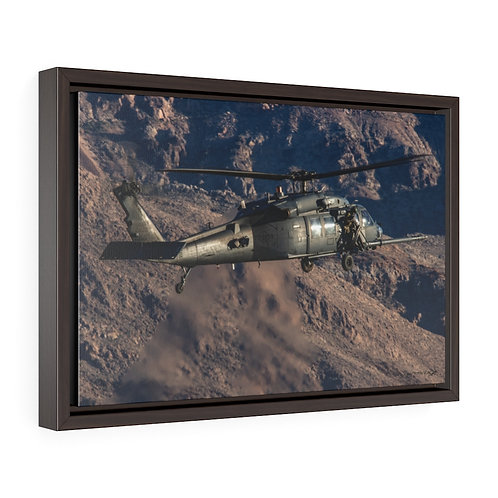HH-60G PAVE HAWK NELLIS AFB, NEVADA Framed Premium Gallery Wrap Canvas