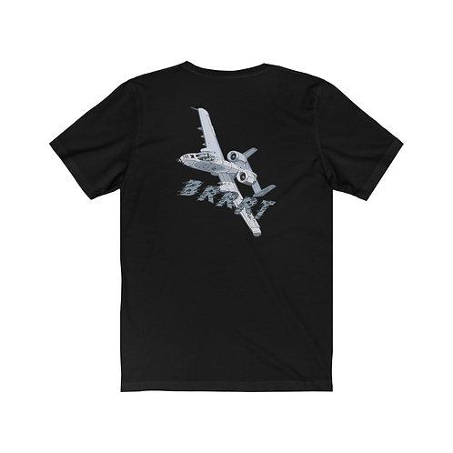 A-10 THUNDERBOLT II BRRRT BACK PRINT Unisex Short Sleeve T-Shirt