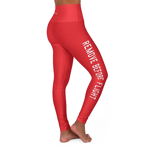 REMOVE BEFORE FLIGHT High Waisted Yoga Leggings