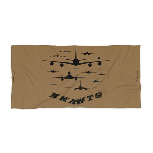 NKAWTG USAF FRONT SILHOUETTES COYOTE BROWN Beach Towel